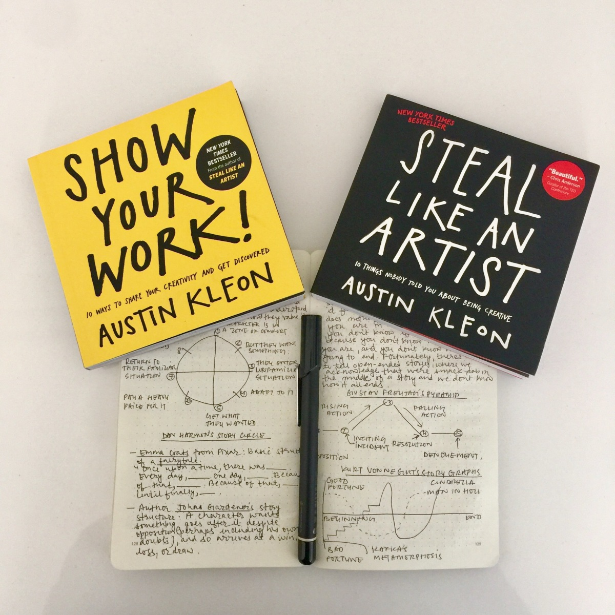 Eleven Lessons I (Re)learned From Austin Kleon's Books 'Steal Like an Artist' and 'Share Your Work'