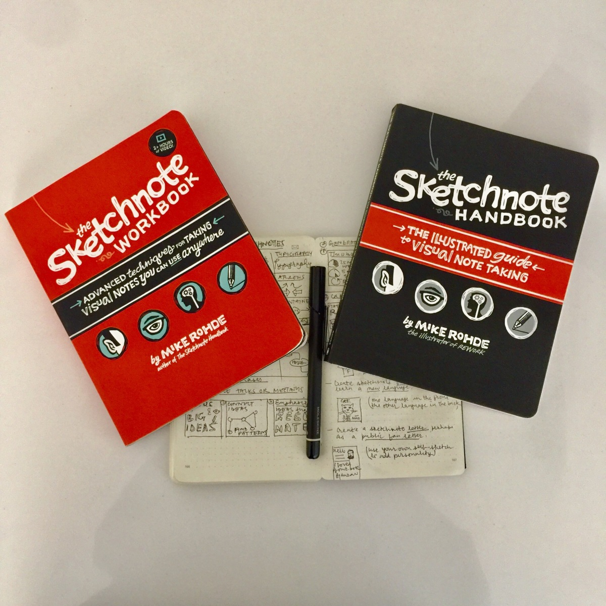 Seven Lessons on Sketching and Seven Ideas For Sketchnoting From Mike Rohde's Books 'Sketchnote Handbook' and 'Sketchnote Workbook'